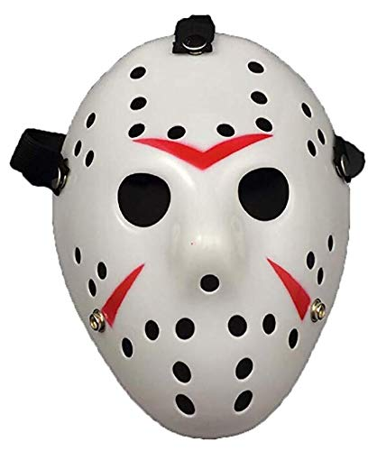 Porous Jason Voorhees Mask, Cosplay Hockey Scary Costume Masks Props for Halloween Masquerade Party White]()