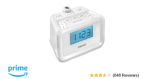 Dual Alarm Digital FM Clock Radio | Time Projection , 8 Relaxing Nature  Sounds , LED Display ,