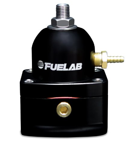 Fuelab 51501-1 Universal Black EFI Adjustable Fuel Pressure Regulator Adjustable Fuel Pressure Regulator