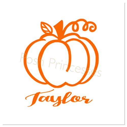 Halloween Pumpkin Vinyl Personalized Decal Car Window Decal Laptop Sticker, Thanksgiving Decal, Any Color 3
