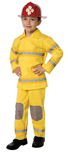 Boys Fireman Kids Child Fancy Dress Party Halloween Costume, M (7-8)