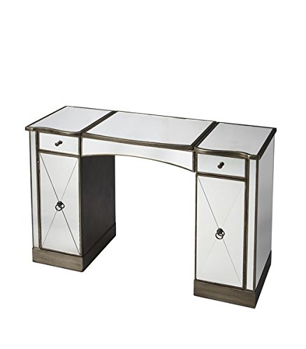 Pewter 30' Storage (Vanity with Mirror Front and Sides and Complementary Pewter Trim Makes a Strong Style Statement While Providing Abundant Storage)