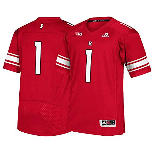 adidas Rutgers Scarlet Knights #1 NCAA Men's Red Premier Football Jersey (S) 1 Premier Football Jersey