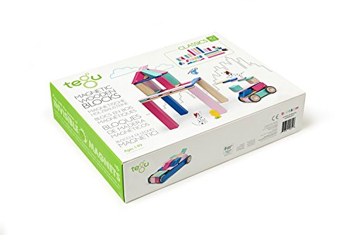 42 Piece Tegu Magnetic Wooden Block Set, Blossom by Tegu