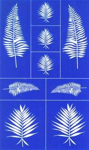 Etching Dichroic Glass - Rub N Etch Stencil - Ferns