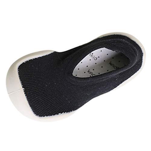 (Toddler Socks Shoes FAPIZI Infant Fashion Solid Casual Single Shoes Baby Prewalker Anti-Slip Flats Black)