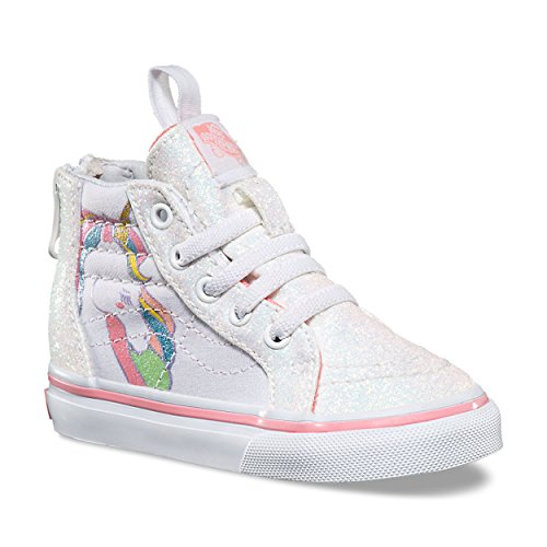 3aec35b3171 Vans Unicorn Sk8-Hi Zip VN0A32R3QR1 (Unicorn) Rainbow White Glitter Toddler  2