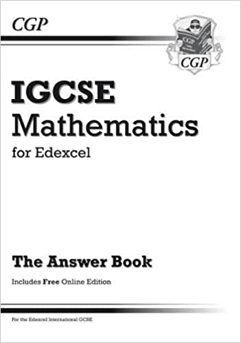 Edexcel Certificate/International GCSE Maths Answers for Workbook ...