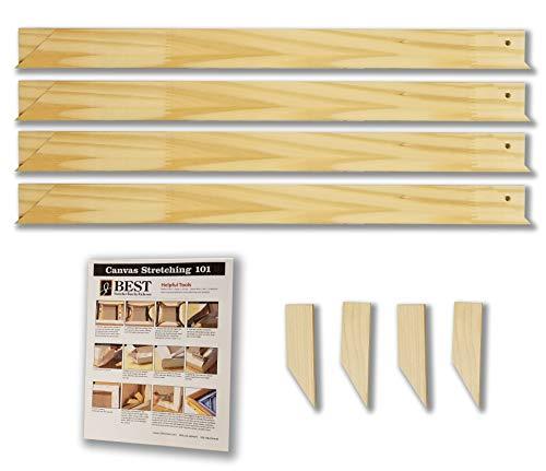 - Stretcher Bar Bundle-Jack Richeson Light Duty Stretcher Bars, 20 Qty 4; Wood Keys; Canvas Stretching 101 Guide (9 Items)