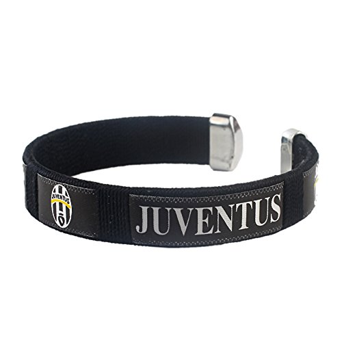 juventus-bracelet-in-black-football-soccer-club-plastic-and-fabric-wristband