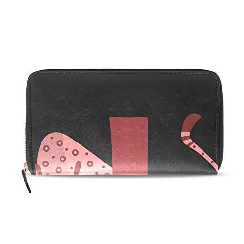 Womens Wallets J for Jaguar Leather Passport Wallet Coin Purse Girls Handbags