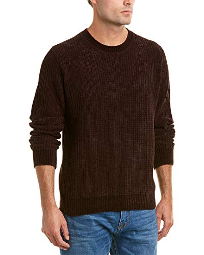 Vince Men's Velvet Ribbed Crew Neck Sweater, Shiraz, ()