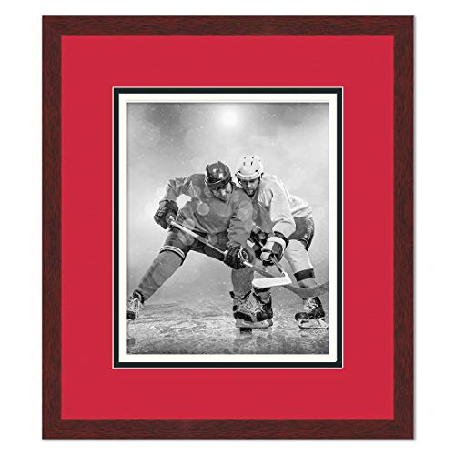 Sports Frames Arizona State Black Wood Frame with Sun Devils Triple Mat Colors - Made to Display 16