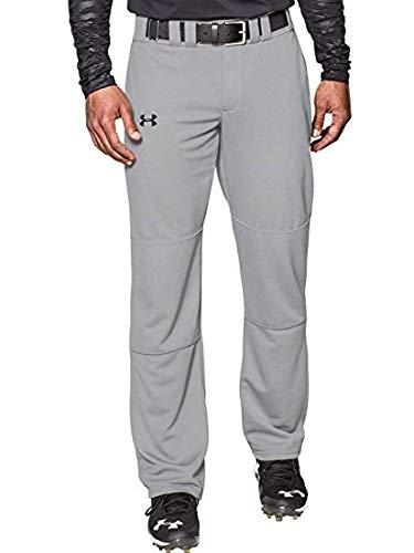 Under Armour Men's Clean Up Baseball Pants Baseball Gray/Black Size X-Large