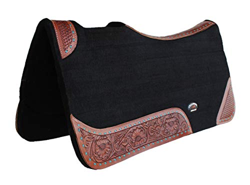 CHALLENGER 32″ Spine Horse Western Contoured Wool Felt Therapeutic Saddle Pad 39147BK