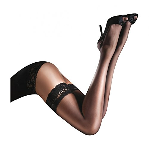 Aristoc Women's Sensuous luxury lace top thigh-highs medium (5'4''-5'8'', 163-173 cm) black by Aristoc