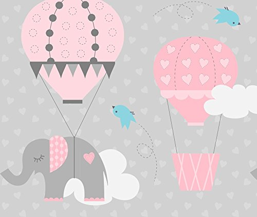 Flying Machine Fabric Hot Air Balloon Elephant by Jenniferfranklin Printed on Basic Cotton Ultra Fabric by the Yard by - Balloon Air Hot Designed