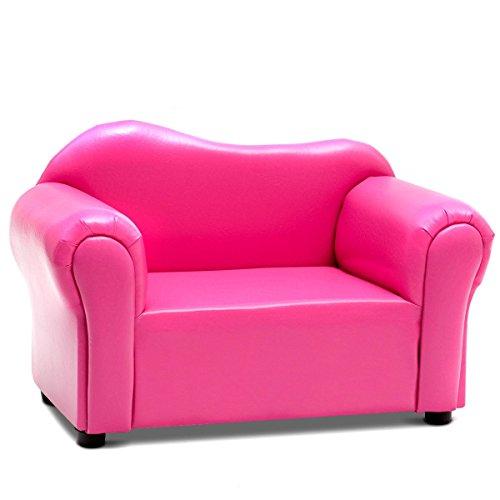 Svitlife Kids Armrest Chair Sofa Couch Gift Birthday Home Pink Storage Kid Recliner Seat by Svitlife