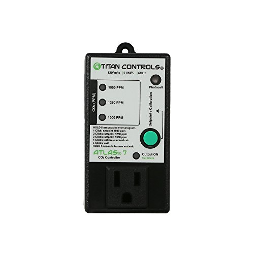 Titan Controls Carbon Dioxide (CO2) Controller w/ Photocell, Single Outlet, 120V - Atlas 7 by Titan Controls
