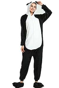 Kenmont Unicornio Juguetes y Juegos Animal Ropa de Dormir Cosplay Disfraces Pijamas para Adulto Niños (Small, Panda)