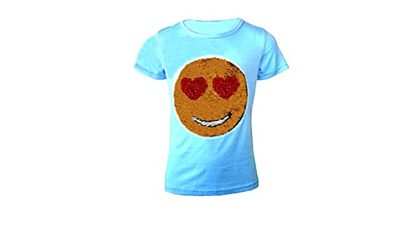 31d709018 Desconocido Camiseta Emoji Emoticons Smiley Cara para NIÑOS Camiseta Top Cepillo  Cambiar Lentejuelas Edad 3-14 AÑOS  Amazon.es  Ropa y accesorios