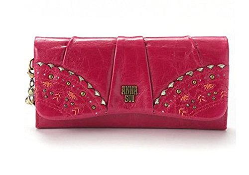 Bags Anna Sui - Anna Sui Long Flap Wallet Talk to her (black)