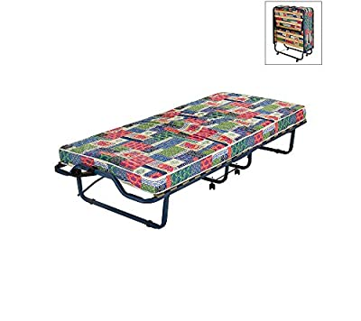 """INNERSPACE Luxury Products 4"""" Firenze Folding Bed with Metal Frame and Reversible Mattress"""