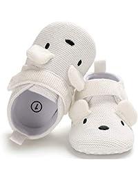 Infant Baby Boys Girls Adjustable Anti-Slip Slippers Soft Sole Winter Socks Crib Shoes Moccasins
