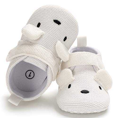 BiBeGoi Baby Girls Boys Slippers (0-6 Months M US Infant, Ab-White)]()