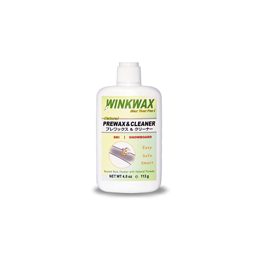 WINKWAX NEW Natural Prewax & Cleaner for Ski and Snowboard Base (4 oz)