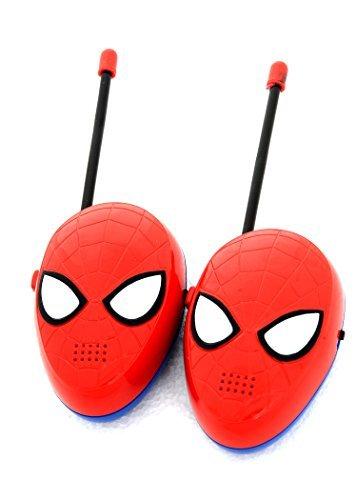 Kinder-Walkie Talkie Spielzeug für Kinder ein großer Spaß für Innen- und Außenspiel - Boys Kinder Walkie-Talkies für Kinder Spiderman 2 Moulded