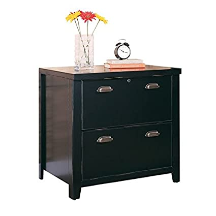 Charmant Classic 2 Drawer Lateral File Cabinet, Lock Included, T Slot System, Drawer