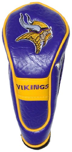 (Team Golf NFL Minnesota Vikings Hybrid Golf Club Headcover, Hook-and-Loop Closure, Velour lined for Extra Club Protection)