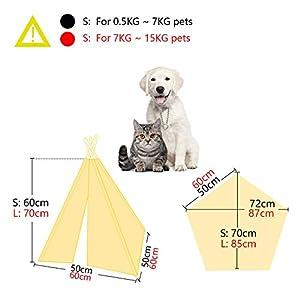 Casa-Gato-Tienda-Perro-Lavable-Cama-Gato-de-LonaTela-de-Algodon-100-S