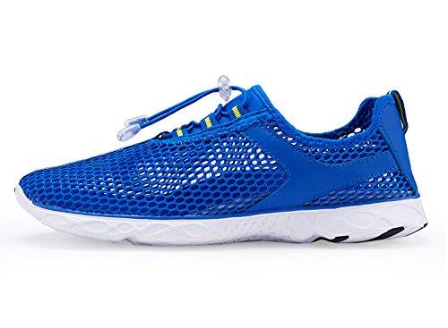 UKRIS Womens Fashion Mesh Slip on Quick Drying Water Shoes F-blue o8tzCT5PF