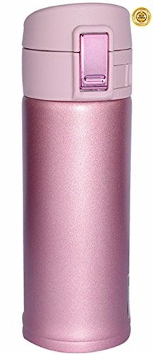 Lasting Charm Stainless Steel Mug, Vacuum Thermos for Home Travel Hiking Yoga with Coffee or Tea 12 oz (Lavender Pink)