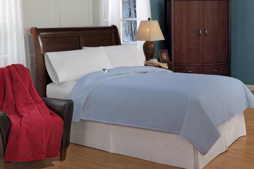 Soft Heat Luxury Micro-Fleece Low-Voltage Electric Heated Queen Size Blanket, Slate Blue