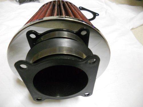 """03 04 05 06 G35 / 350Z 3.5 V6 Air Intake Filter MAF Adapter w/ 3"""" K&N / KNN (Red) Filter (G35 Intake)"""