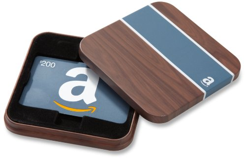 Amazon.com $200 Gift Card in a Brown & Blue Tin (Classic Blue Card Design) ()