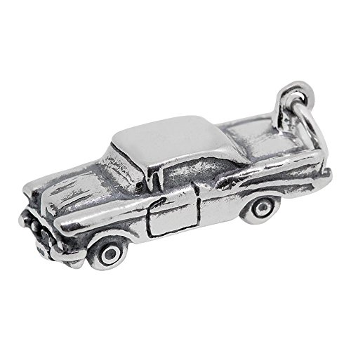 Argent sterling Hot Rod Car Charm (7 x 20 mm)
