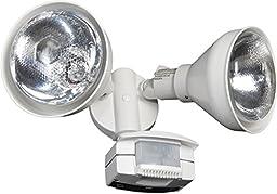 Lithonia Lighting OMS 2000 PR2 120 WH M4 150W White Outdoor Par holder with 200-Degree Detection Motion Sensor, White