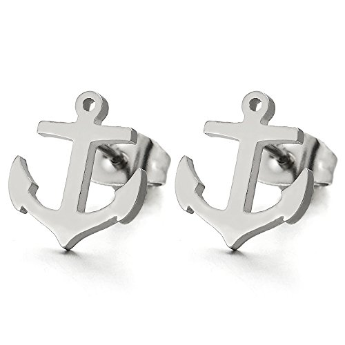 Anchor Stud Earrings for Men and Women (Anchor Stud Earrings)