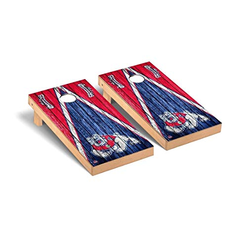 Victory Tailgate Fresno State Bulldogs Regulation Cornhole Game Set Triangle Weathered Version