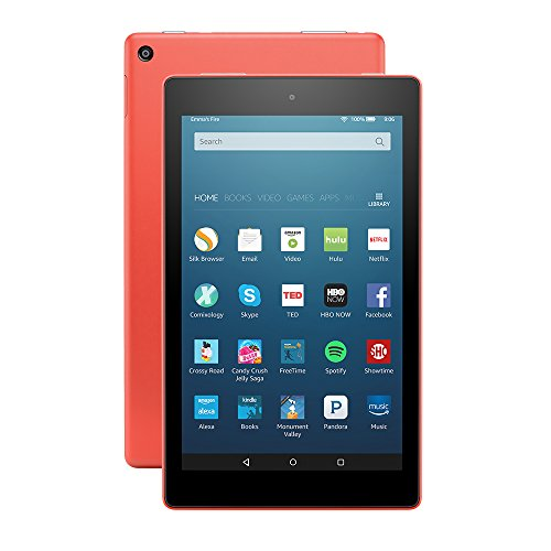 "Fire HD 8 Tablet with Alexa, 8"" HD Display, 16 GB, Tangerine - with Special Offers (Previous Generation - 6th)"