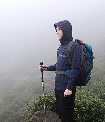 G&MONDAY MEN'S RAIN JACKET WATERPROOF RAINCOAT LIGHTWEIGHT BREATHABLE RAINWEAR OUTDOOR