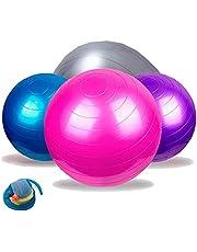 Bola Inflável 65 Cm C/ Bomba Ginastica Yoga Pilates Fitness