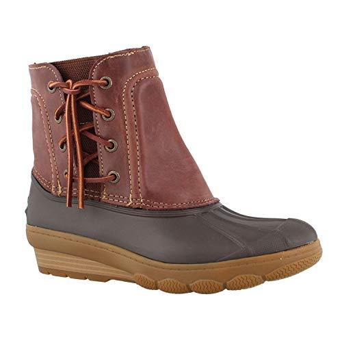 (Sperry Women's, Saltwater Wedge Spray Boots Brown 9 M)