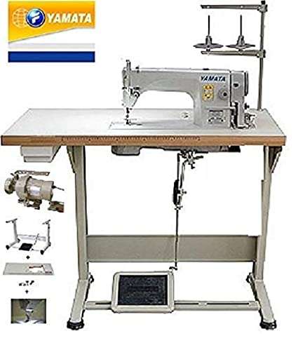 new concept 6909d 3a03a Yamata Industrial Sewing Machine FY-8700 Lockstitch Sewing Machine with  Servo Motor + Table Stand + LED Lamp Commercial Grade Sewing Machine for ...