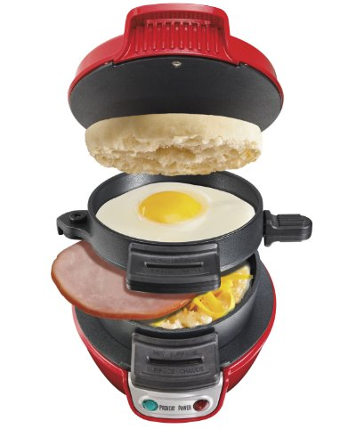 Hamilton Beach 25476 Breakfast Electric Sandwich Maker, Red image