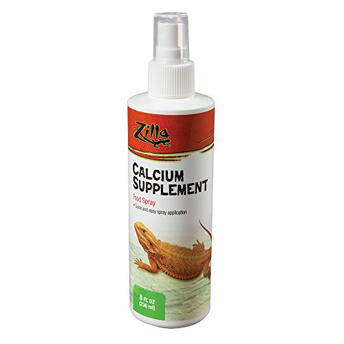 Zilla Reptile Health Supplies Calcium Supplement Food Spray, -